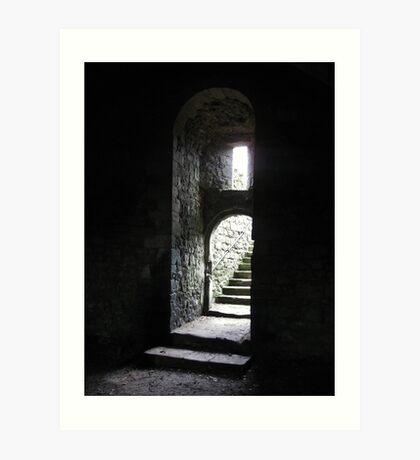 Castle Steps - Helmsley Castle Art Print