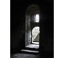 Castle Steps - Helmsley Castle Photographic Print