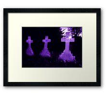 Purple Crosses Framed Print