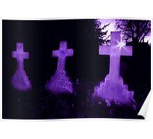 Purple Crosses Poster