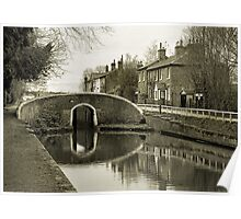 Fradley Junction in Sepia 1 Poster