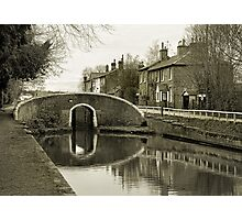 Fradley Junction in Sepia 1 Photographic Print