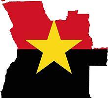 MPLA Flag Map of Angola by abbeyz71