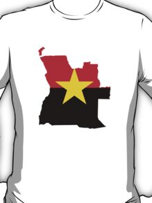 MPLA Flag Map of Angola T-Shirt