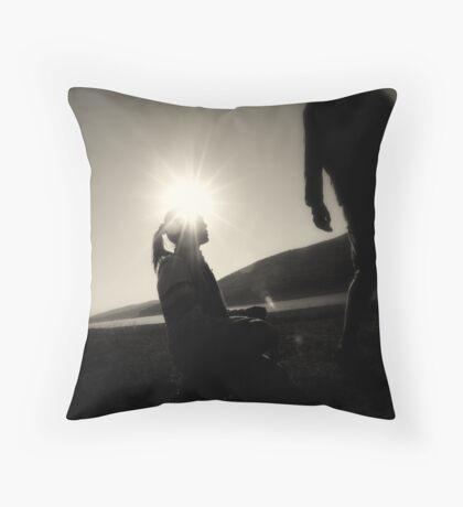 Shining again Throw Pillow