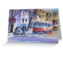 Streetcar in The Beaches, Toronto Greeting Card
