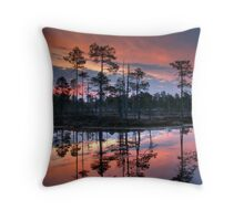 Moment before the sunrise Throw Pillow