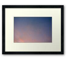 Contrail shadow Framed Print