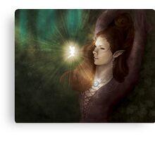 An Unexpected Visitor  Canvas Print