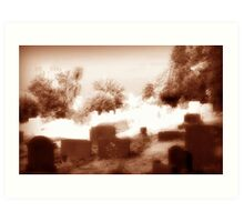 Old Town Cemetery Art Print