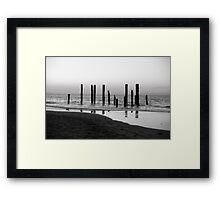 Pier Silhouette Framed Print
