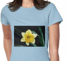 SINGLE YELLOW DAFFODIL Womens Fitted T-Shirt