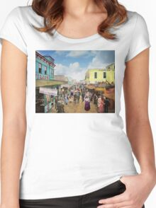 CITY - NY - The Bowery 1900 Women's Fitted Scoop T-Shirt
