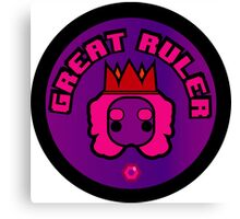 Great Ruler (Purple) Canvas Print
