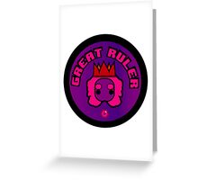 Great Ruler (Purple) Greeting Card
