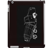 a cement mixer drawn by a kid iPad Case/Skin