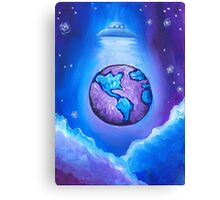 Earth UFO Canvas Print