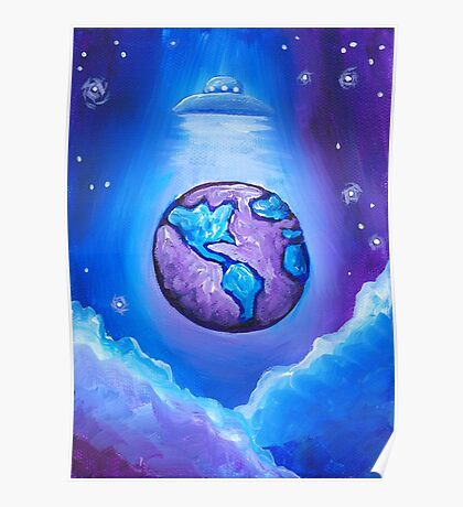Earth UFO Poster