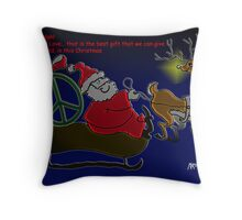 Peace and Love for Chistmas Throw Pillow