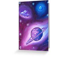 Saturn Neptune UFO Greeting Card