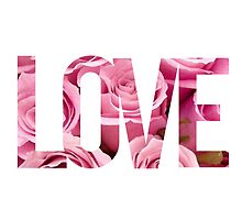 Love Roses White & Pink Design by hellosailortees