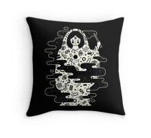The Magician: Black Magic Throw Pillow