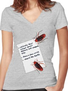 Cockroach Manifesto Women's Fitted V-Neck T-Shirt