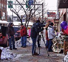 Shooting the cameraman by vigor