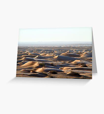 Tunisia: frozen dunes Greeting Card