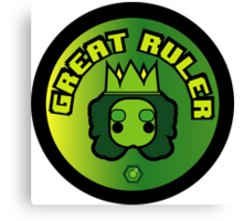 Great Ruler (Green) Canvas Print