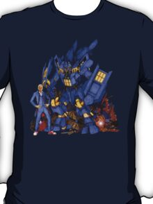 12th Doctor with D4L3K Buster Robot Phone Box T-Shirt