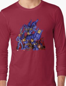 12th Doctor with Dalek Buster Long Sleeve T-Shirt