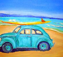 Green VW by gillsart