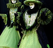 Green Jokers together by VeniceCarnival