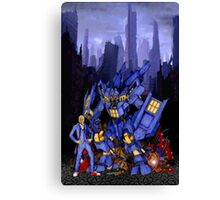 12th Doctor with Dalek Buster Canvas Print
