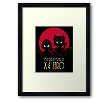 The Adventures of X & Zero Framed Print