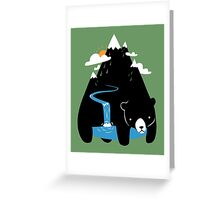 The Mountain Bear Greeting Card