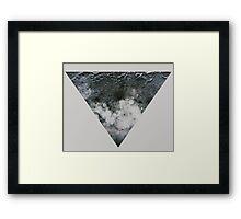 Moon Triangle Framed Print