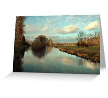 River Itchin from Five Bridges Road Greeting Card