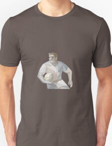 Rugby Player Running Low Polygon Unisex T-Shirt