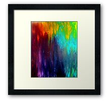 Abstract Painting on Canvas Titled: Wild Color Framed Print