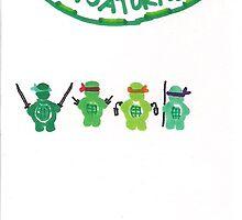 Infant Mutant Ninja Turtles by SteveHanna