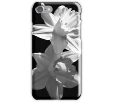Daffodils in Black and White iPhone Case/Skin