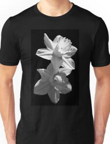 Daffodils in Black and White T-Shirt