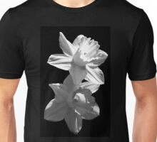 Daffodils in Black and White Unisex T-Shirt