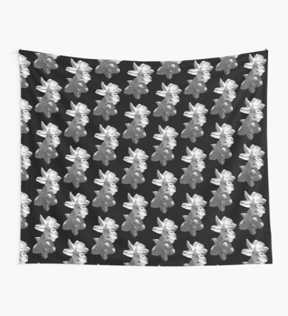 Daffodils in Black and White Wall Tapestry
