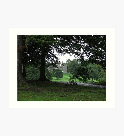 Balloch Castle through the tree's Art Print