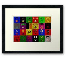 Minimalist Superhero Poster Framed Print