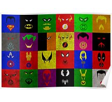 Minimalist Superhero Poster Poster