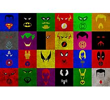Minimalist Superhero Poster Photographic Print